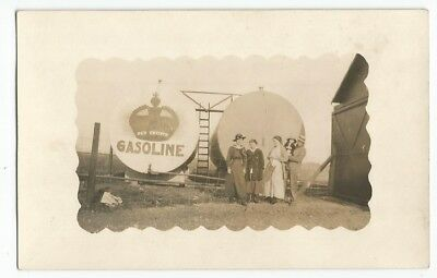 Red Crown Gasoline Tank 1910 RPPC Postcard, Standard Oil Company