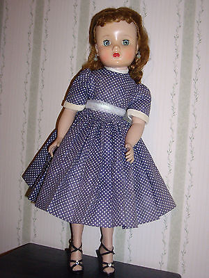 Vintage 1950's Madame Alexander Elise Auburn, Redhead in Tagged Dress,Shoes,etc