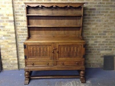 Antique English Oak Dresser Sideboard On Stand. Delivery Available.