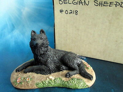 Black Belgian Sheepdog Figurine Sherwin 1987 NIB Retired USA Marv-Art Designs