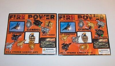 Gumball Machine Vending Header Toy Prize Charm - Two Fire Power Display Cards