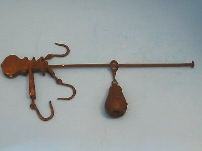 Antique Vintage Metal Cast Iron Scale Weight Balance Arms Parts Hook Decorative