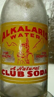 ACL,Painted Label soda pop bottle,INDIAN  PICTURED.