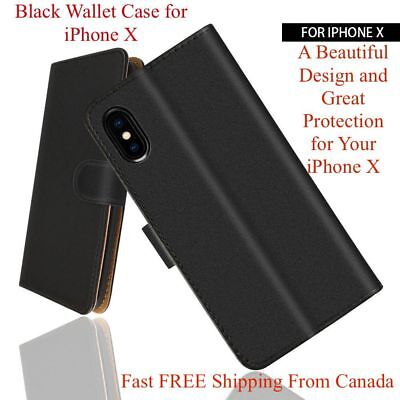 Luxury Magnetic Leather Card Wallet Case Flip Cover for iPhone X