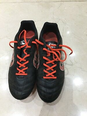 Canterbury Kids Boys rugby boots size 4 37 black red metal studs