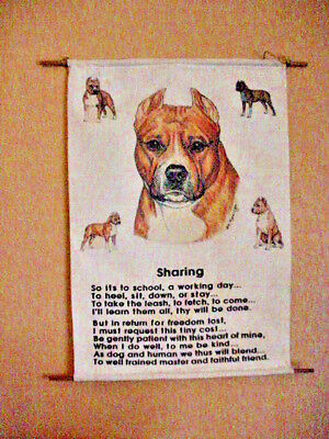 Staffordshire Terrier Wall Hanging with Sharing Poem