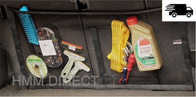 CAR BOOT CARGO NET ORGANIZER WITH VELCRO LARGE 31.5X16 inch TRUNK NET STORAGE