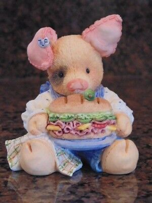 This Little Piggy Ate Roast Beef Pig Enesco Figurine 1994