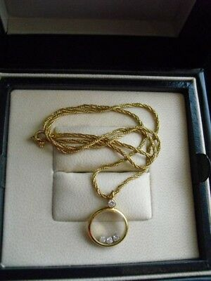 Top Chopard Happy Diamond Gelbgoldkette 750er