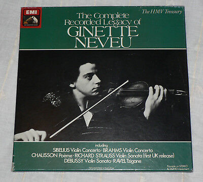 The Complete Recorded Legacy of Ginette Neveu - 4 LP - Vinyl - RLS 739 - EMI