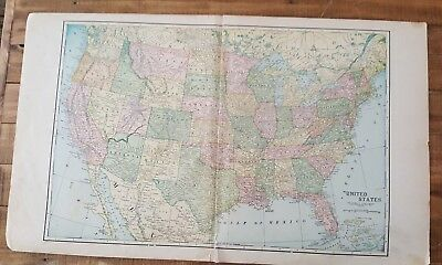 Antique MAP OF THE US - From Atlas Of Franklin County Nebraska - Ogle & Co. 1923