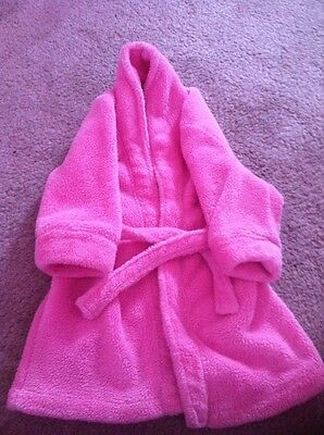 Pink Mothercare Dressing Gown Age 12-18 months