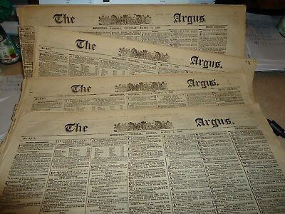 4X Colonial Australian Newspapers....1859..the Argus