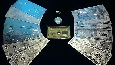 ~BRANDNEW 16Pc.LOT~.999 FINE SILVER $1-$1 MILLION+COIN+SILVER FLAKE~