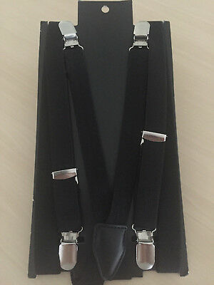 Mens H&M Braces - Black with silver clasps