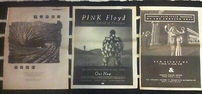 PINK FLOYD - COPY OF ADVERT / SMALL POSTER one slip delicate sound of thunder