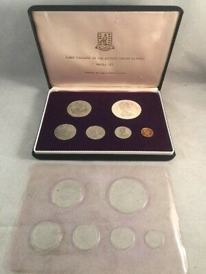 1973 First Coinage Of The British Virgin Islands Proof Set - Sterling Silver $1