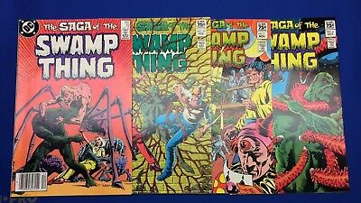 Saga of the Swamp Thing 6,7,10,19 - Canadian Price Variant 4 Comic Lot