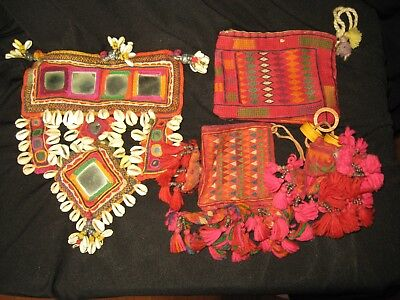 Lot of four Indian textile items