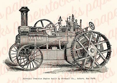 c.1900's BIRDSALL TRACTION ENGINE NEW YORK VINTAGE ADVERTISING A3 PRINT