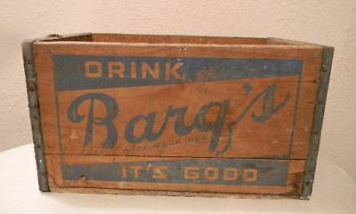 Antique Vintage Wood Barqs Soda Root Beer Crate In Good Condition **no Reserve
