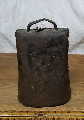Vintage Antique Primitive Hand Forged Large Cow Bell - Great Sound!
