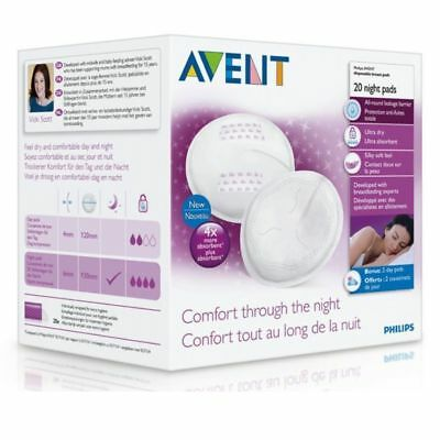 Avent 253 Disposable Night Time Breast Pad 20Pk