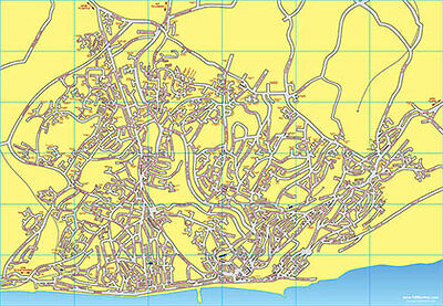 Hastings & St Leonards Map with Street Index - A3 - 1066online