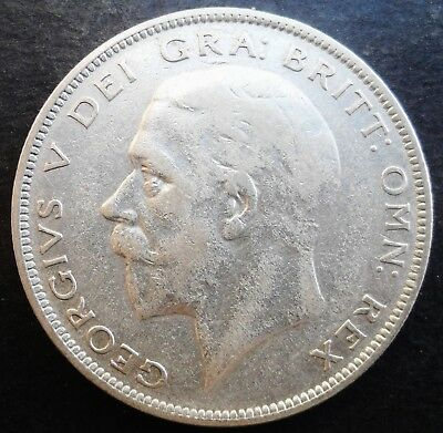 1935  Great Britain Half Crown ,  silver  coin,  circulated - 641