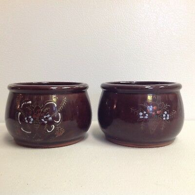 Vintage Hand Painted Japanese Bowls Cups Planters