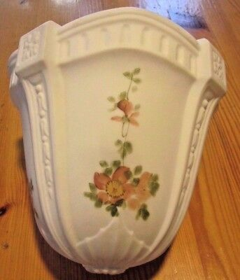 Antique Authentic Art Deco Milk Glass Floral Ceiling Lamp Shade Globe = Numbered