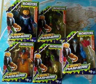 Monsters Mashers Hasbro Komplett Set 5 Stück, Monster Mashers Deluxe Neu OVP TOP