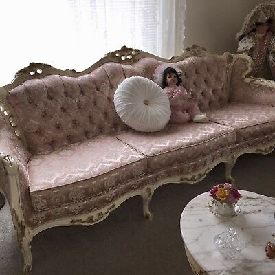 AntiqueFrench Gilt Louis XV Rococo4 piece living room setfabulous condition