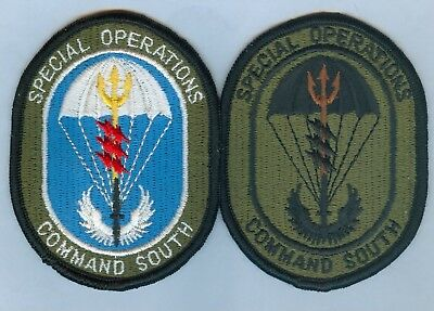 Special Operations Command (Socom) South - Patch Set (Type 1) ... Hard To Find!!