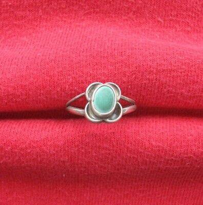 Vintage Native American Indian Southwestern Silver Turquoise Ring