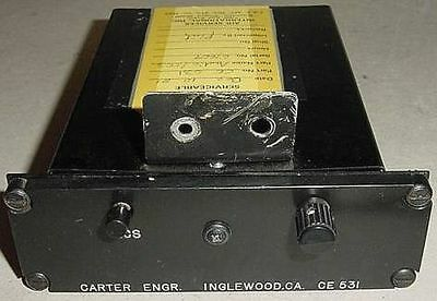 CE-531, Carter Engineering Aircraft Audio ICS Panel with Serviceable Tag