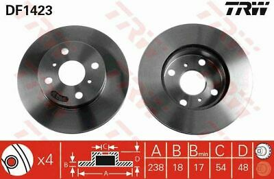 2x Genuine Comline Rear Solid Brake Discs Set Pair ADC1724