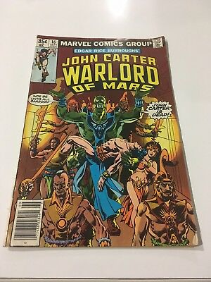 John Carter Warlord of Mars #16 (Sep 1978, Marvel)