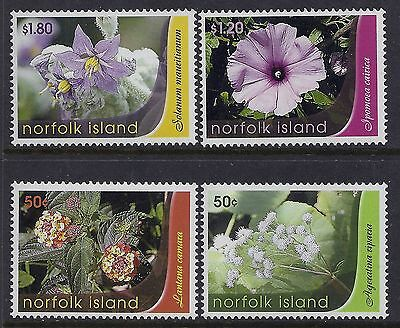 2007 Norfolk Island Weed Flowers Set Of 4 Fine Mint Mnh/muh