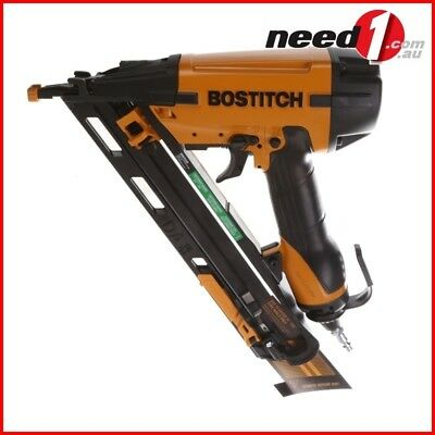 BOSTITCH 15-Gauge Angler Finish Nailer Kit, 32-64mm, Integrated Air Blower, LED