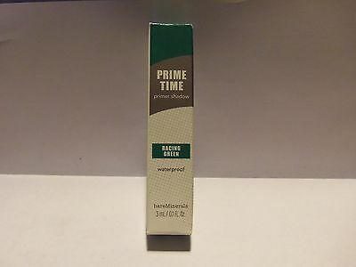 New!!  bareMinerals Prime Time Racing Green Prime Shadow  0.1 oz NIB