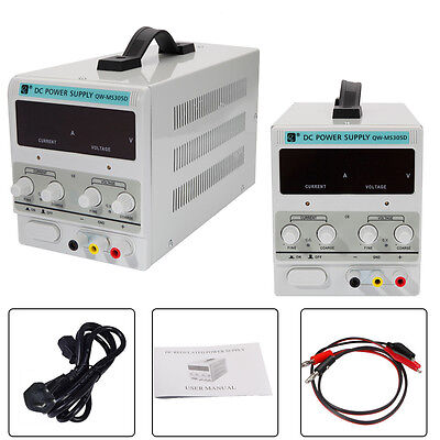 QW-MS305D Variable Linear Adjustable Lab DC Bench Power Supply 0-30V 0-5A UKSHIP