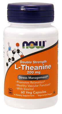 Now Foods - L-Theanine 200 mg, Double Strength - 60 Veg Capsules