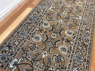 Beige traditional Stylish Runner,, Hallway Rug, (80cm Width), Assorted lengths**