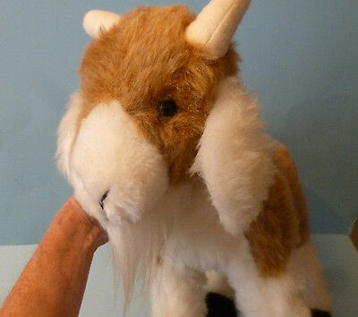 """Large 17"""" Goat plush stuffed brown and white California Toy"""