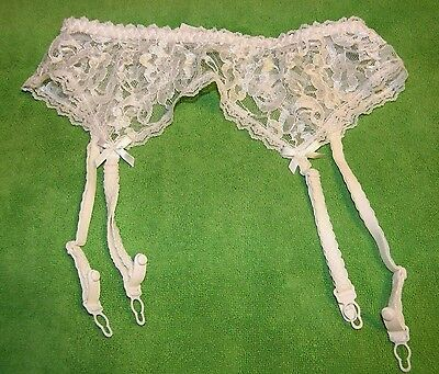 Sachet White  Lace Garter Belt Sz Small