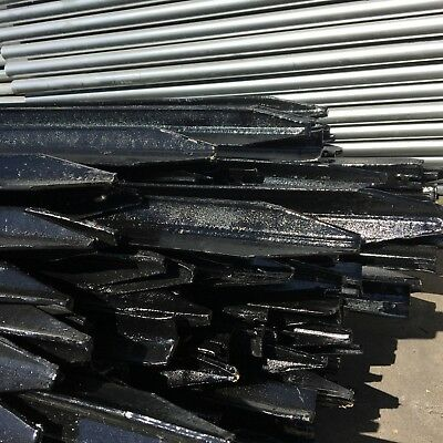 Black Steel Star Pickets 1350mm