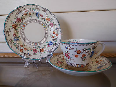 "Spode Copeland ""Royal Jasmine"" Trio Made In England 1930s"