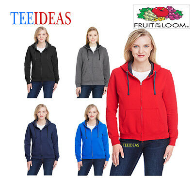 Fruit of the Loom Ladies'  Sofspun Full-Zip Hooded Sweatshirt-LSF73R