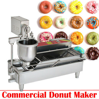USA Commercial Auto Donut Maker Making Machine W/Stainless Steel 3 Optional Mold